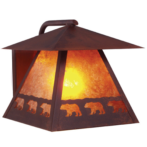 Bear March Wet Location Wall Sconce