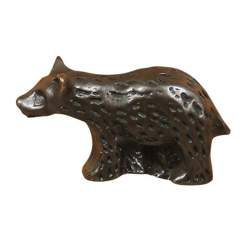 Bear Metal Cabinet Knob - Left Facing