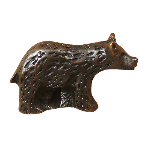 Bear Metal Cabinet Knob - Right Facing