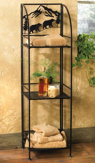 Bear Metal Linen Shelf