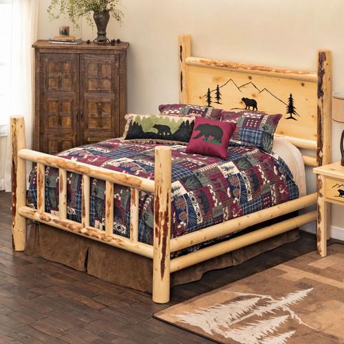 Bear Mountain Log Bed - Twin