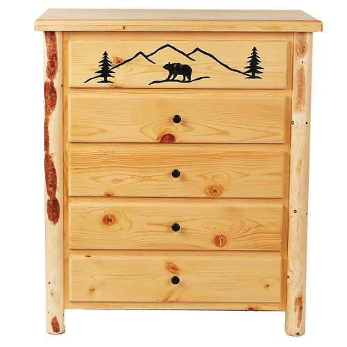 Bear Mountain Log Chest of Drawers