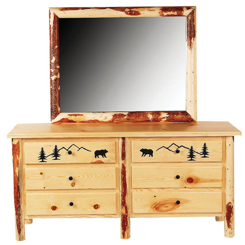 Bear Mountain Log Dresser with Mirror