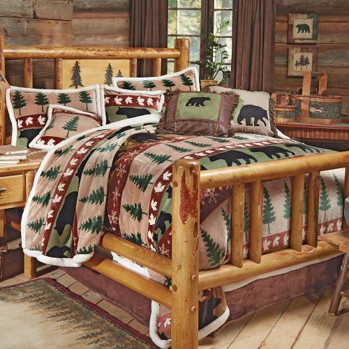 Bear Mountain Plush Bed Set - Twin