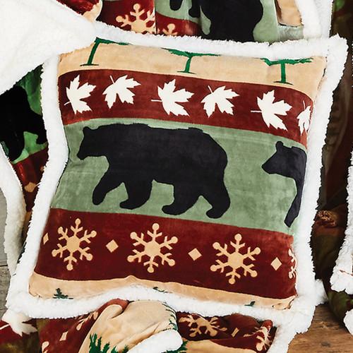 Bear Mountain Plush Pillow