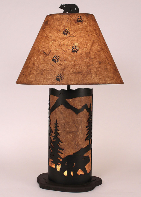 Bear Mountain Table Lamp with Nightlight - Small