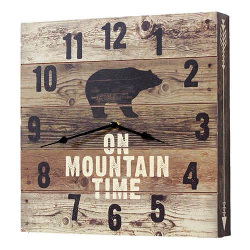 Bear Mountain Time Wall Clock