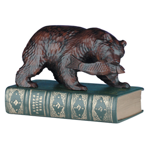 Bear on Book Sculpture