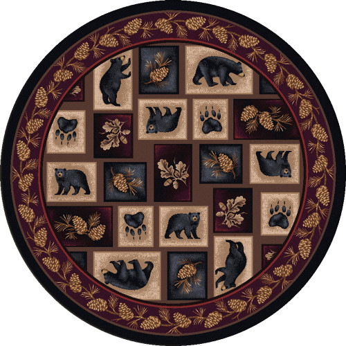 Bear Patch Rug - 8 Ft. Round