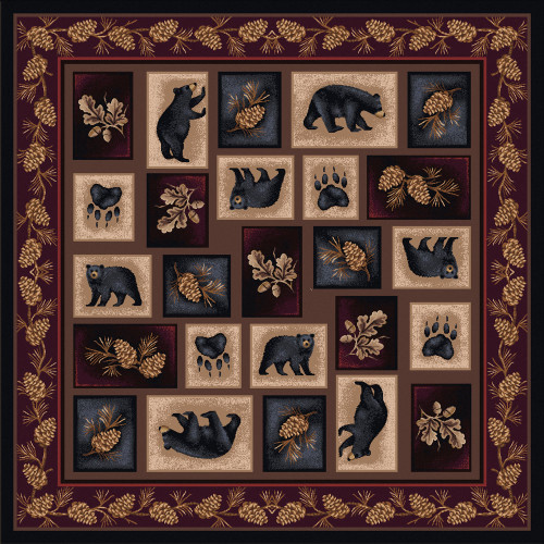 Bear Patch Rug - 8 Ft. Square