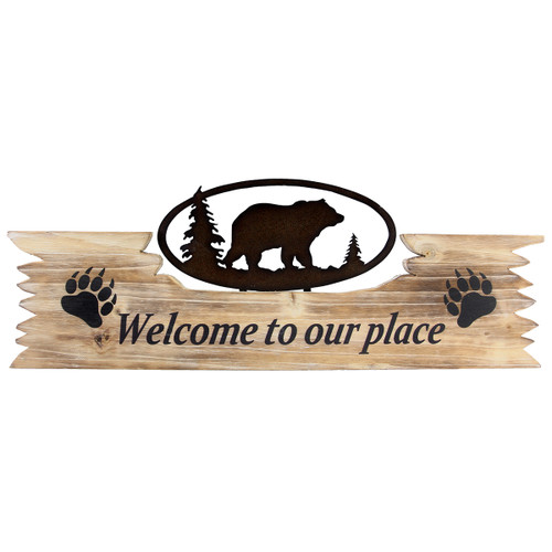 Bear Paw Welcome Sign - BACKORDERED UNTIL 07/30/2021