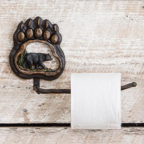 Bear Paw Wilderness Toilet Paper Holder