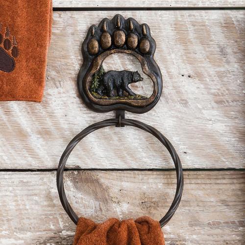 Bear Paw Wilderness Towel Ring