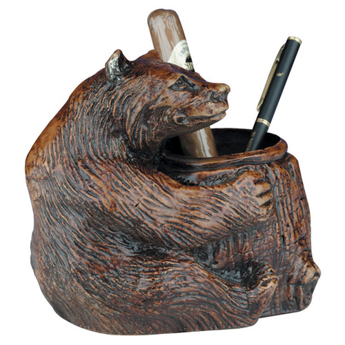 Bear Pencil Holder - Honey Maple