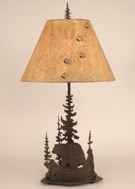 Bear Round Metal Art Table Lamp