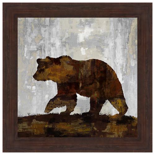 Bear Silhouette Framed Print