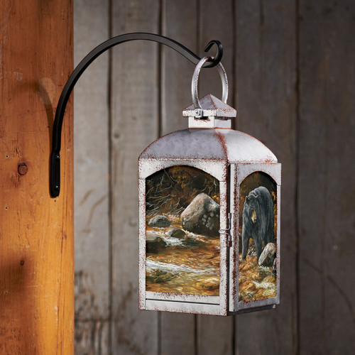 Bear Stream Lantern - Silver