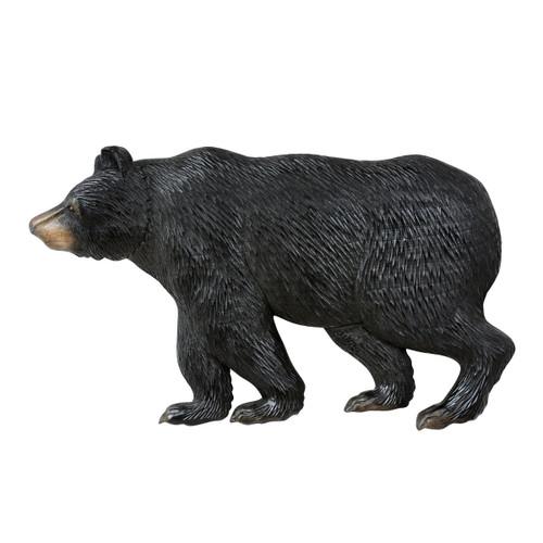 Bear Stroll Carved Wood Wall Art