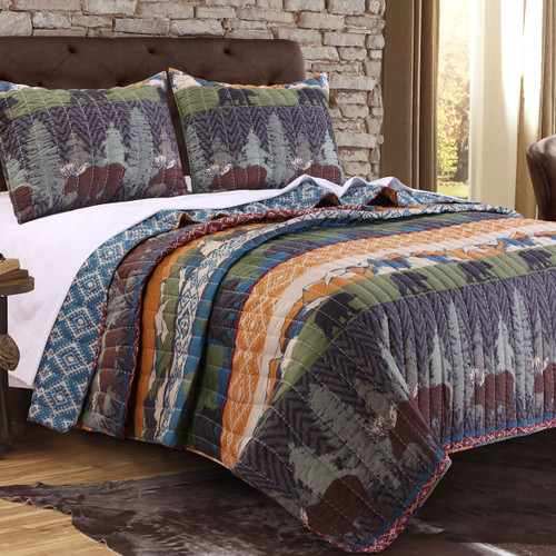 Bear Thicket 3pc Quilt Set - King