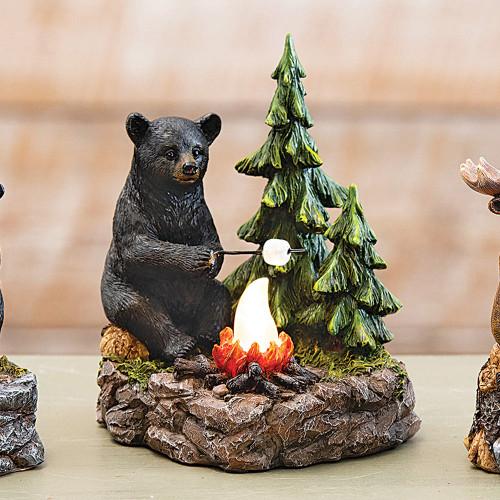 Bear Toasting Marshmallow Nightlight
