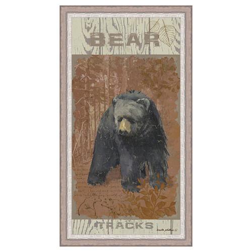 Bear Tracks Framed Canvas