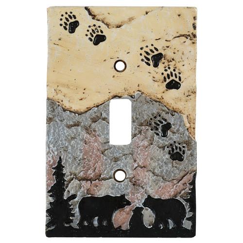 Bear Tracks Stone Single Switch Cover