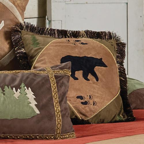 Bear Tracks Bear Accent Pillow