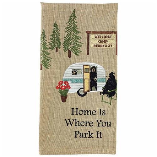 Bear Trailer Trip Embroidered Dishtowels - Set of 6
