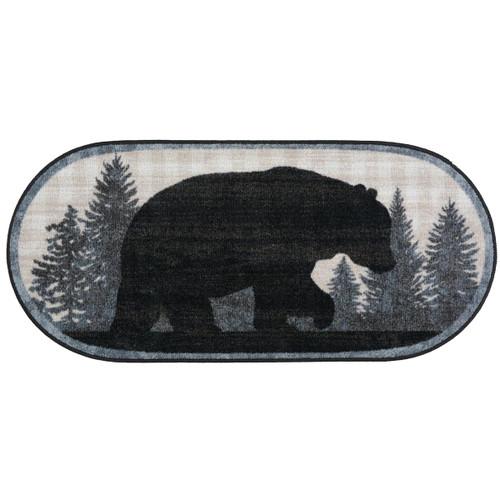Bear Twilight Oval Bath Rug