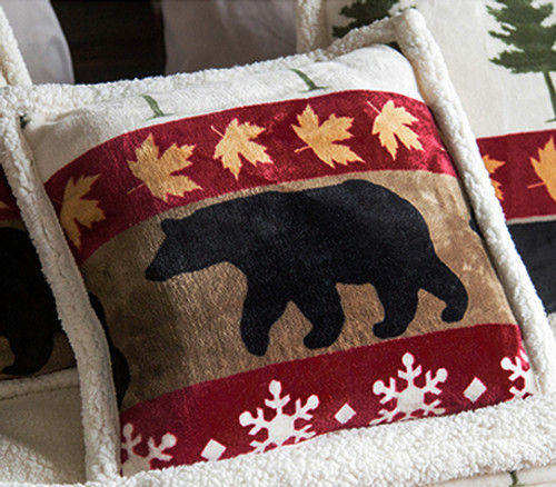 Bear Valley Plush Pillow