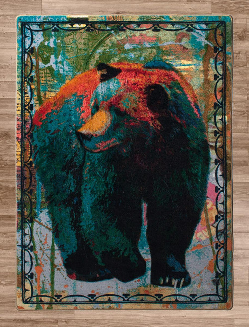 Bear Walking Rug - 4 x 5