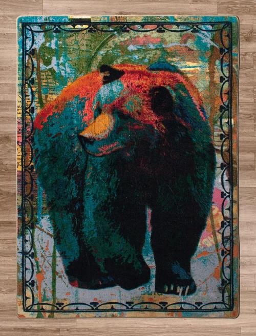 Bear Walking Rug - 8 x 11