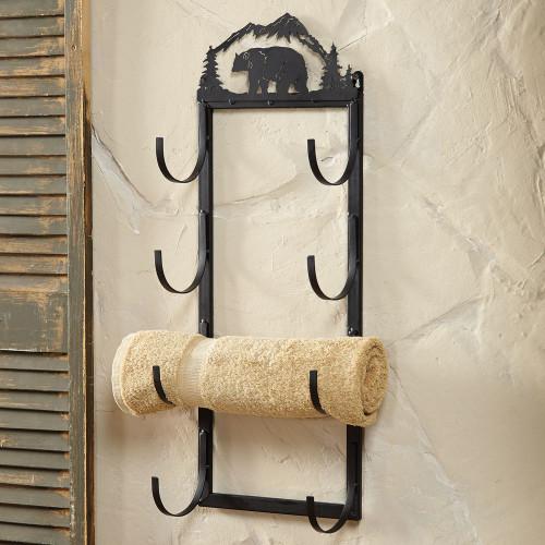 Bear Wall/Door Mount Towel Rack