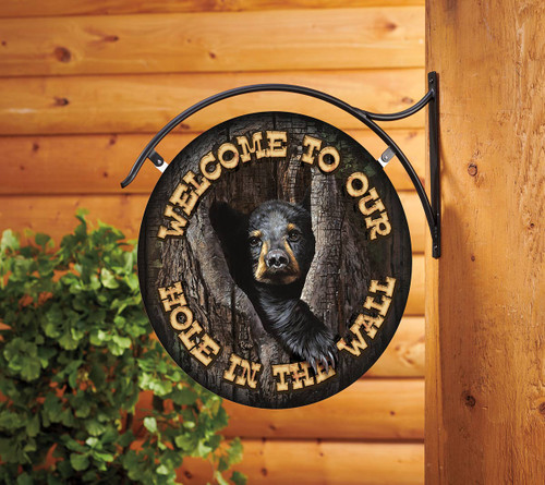 Bear Welcome Hanging Sign