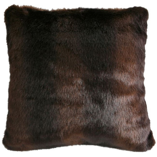 Brown Bear Faux Fur Pillow