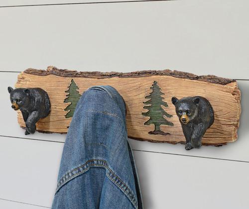 Bears and Pines Wall Hooks