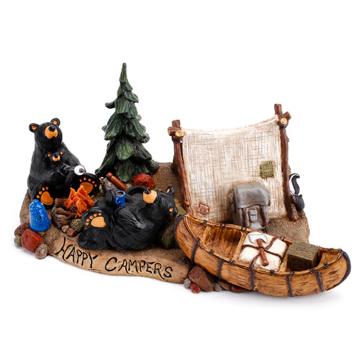 Bears Camping Out Figurine
