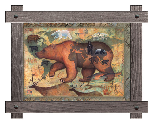 Bears of the World Framed Wall Art