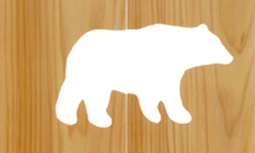 Log Bench with Bear Cut-Out Back - 72inch