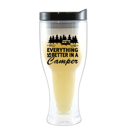 Better in a Camper Beer Tumblers with Black Lids - Set of 4