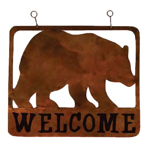 Big Bear Metal Welcome Sign