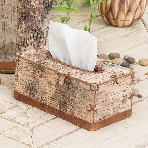 Birch Bark Rectangular Tissue Box