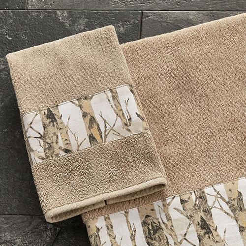 Birch Trees Fingertip Towel
