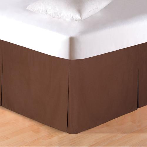 Brown Tailored Bedskirt - Queen