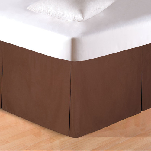 Brown Tailored Bedskirt - Twin