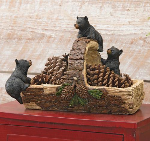 Black Bear & Log Basket