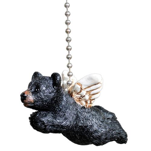 Black Bear Angel Ceiling Fan Pull
