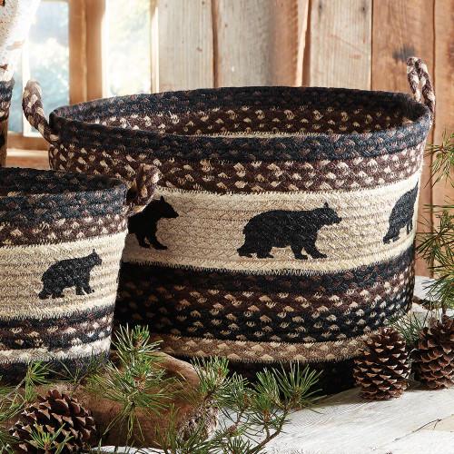 Black Bear Braided Utility Basket - Large