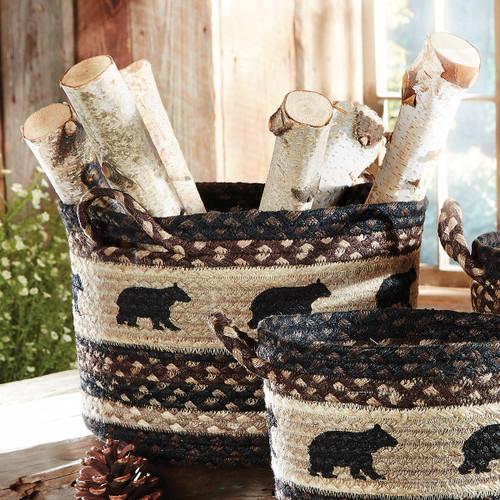 Black Bear Braided Utility Basket - Medium