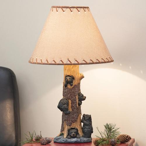 Black Bear Cub Climbers Table Lamp